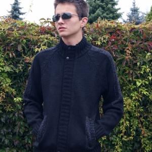 kurtka czarny