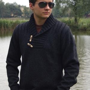 Jakub czarno szary melanž