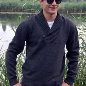 kacper melanž czerno szary